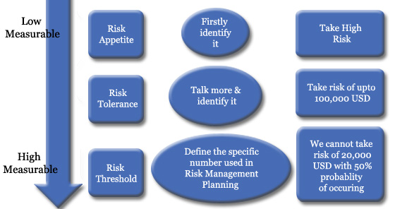 Difference between Risk Appetite, Risk Tolerance, and Risk Threshold