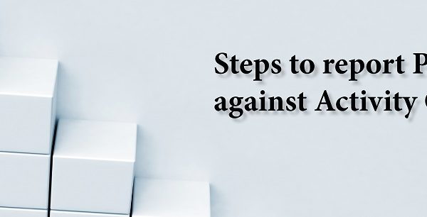 Steps to report PDUs Against Activity Code