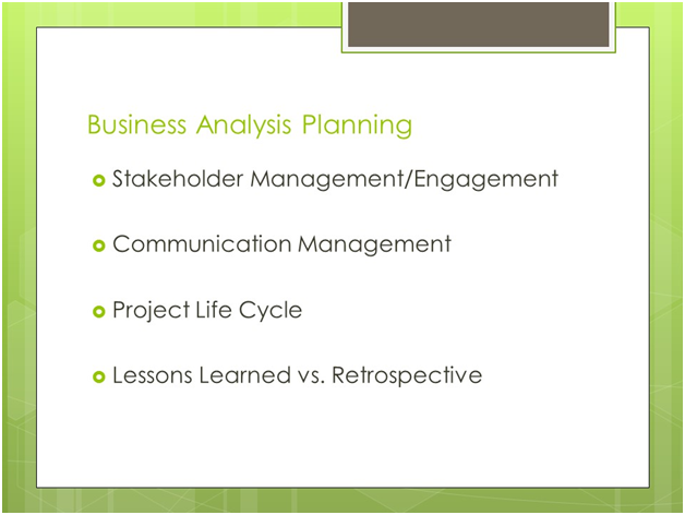 PMI-PBA Business Analysis Planning