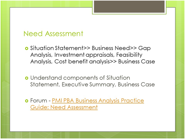 PMI-PBA Need Assessment