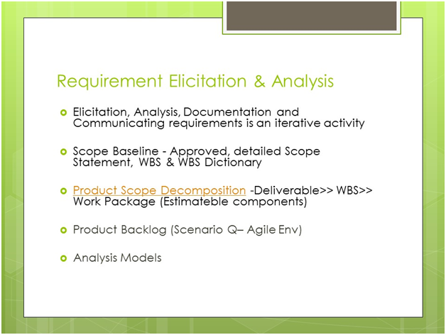 PMI-PBA Requirement Elicitation and analysis