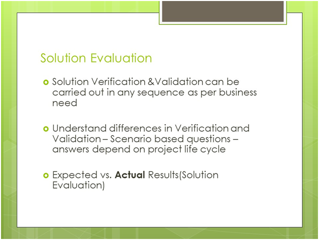 PMI-PBA Solution Evaluation
