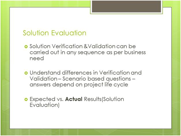 PMI-PBA Solution Evaluation