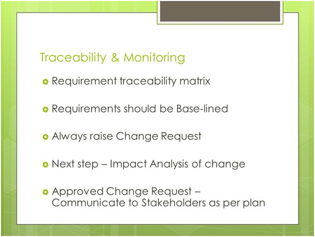 PMI-PBA Traceability Monitoring