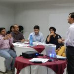 Saket Leading a Agile workshop in Delhi