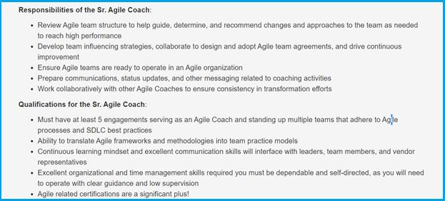 Agile coach process